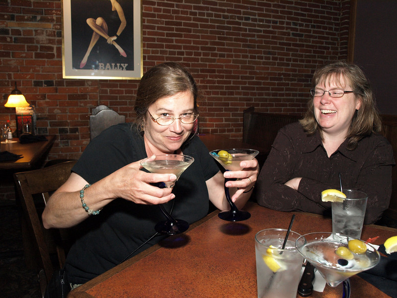 Two fisted drinker, Bourbon Street Restaurant, Cedar Falls, Iowa, July 3, 2008.