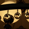 Crystal balls on chandelier in the Old State Capitol.