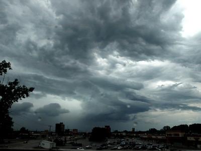 Storm clouds near Toledo.