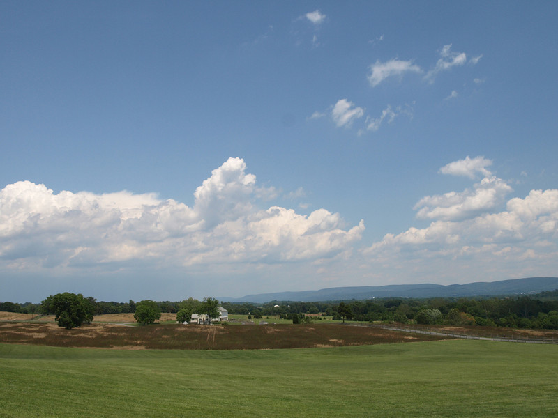 Battlefied panorama. Antietam National Battlefield Park, June 20, 2008.