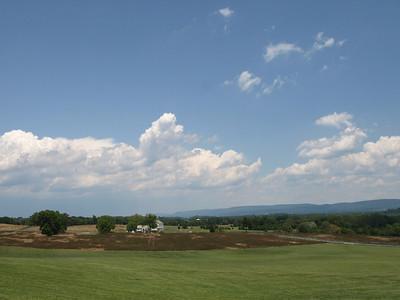 Battlefied panorama. Antietam National Battlefield Park, June 20, 2008.