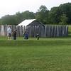 Reconstructed stockade at Fort Necessity, Farmington, Pennsylvania.