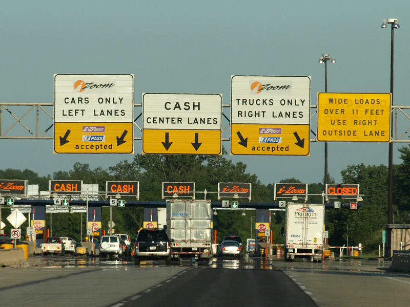 Toll booths, Indiana Turnpike, July 5, 2008.