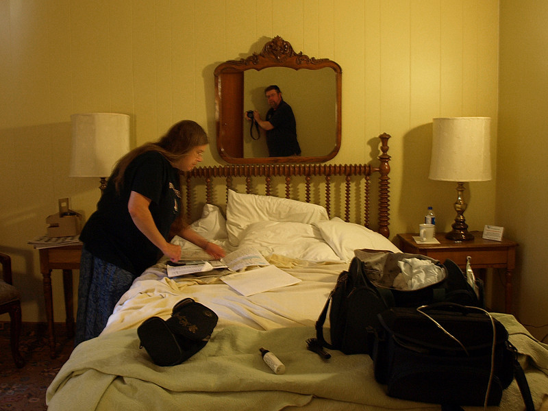 Packing out at the Blackhawk Hotel, Cedar Falls, Iowa, July 5, 2008.