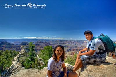 Kethan & Vasantha, Grand Canyon North Rim, 2010