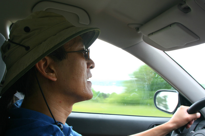 June 4, 2010<br /> On the road: daily photo of Clem driving