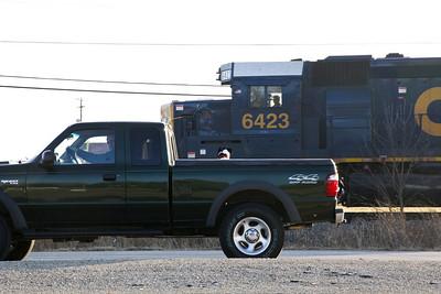 Dog watching train watching truck watching me - Somewhere in Kentucky