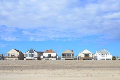 Some of the beach properties still show scars from Hurricane Sandy one year ago.
