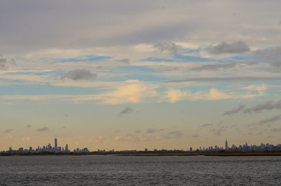 Paul's back yard - the Manhattan skyline.