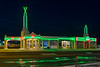 "Restored Tower Conoco Station on the historic Route 66 in Shamrock, Texas, used as a model for the Disney movie ""Cars"""