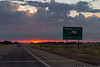 Entering Texas as the sun disappears