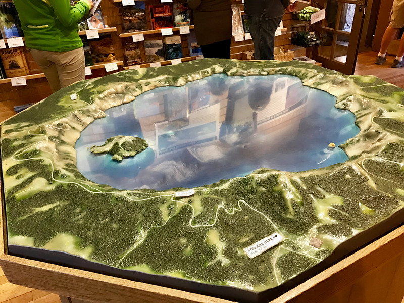 Crater Lake Model in the Visitors Center