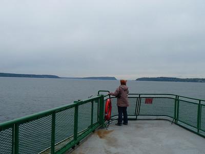 Ferry to Whidbey Island, WA.