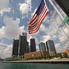 Detroit Renaissance Center Skyline