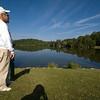Danny Jacabson overlooking Land Harbor Lake