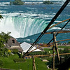 View of the Niagara Falls from the top of the Falls Incline Railway