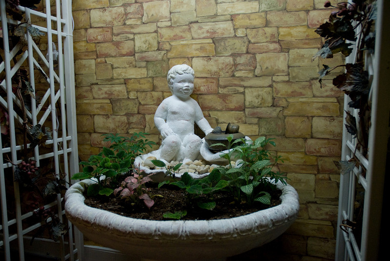 Statue inside one of the local shopping areas