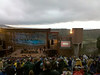 Red Rocks Amphitheater.  This was July 4, so we had a great view of various fireworks displays in Denver later in the evening.  Oh yeah, and that is definitely a storm coming in.
