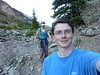 Hiking to Crater Lake near Aspen