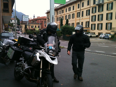 We ended up parting ways in Menaggio, Italy.  They went looking for mountain passes that weren't snowed under yet, and I headed down south for Siena, Italy.
