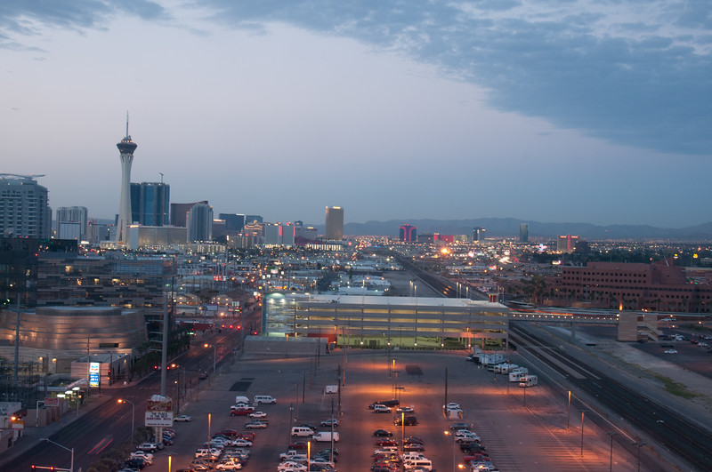 A Vegas Dawn<br /> Looking south from the fifteenth floor of the Plaza