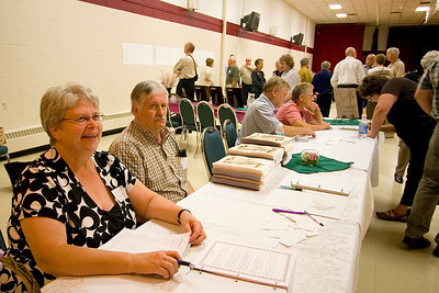 We registered at the reunion in the afternoon.  Jackie Oranchuk, Darcie's mom, was running the show.