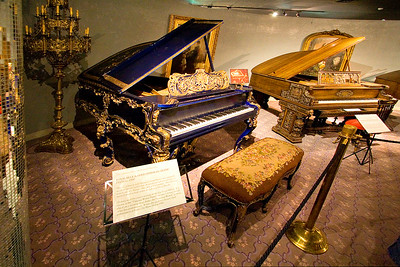 Some of Liberace's pianos
