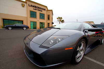 We stopped at a Lamborghini dealership