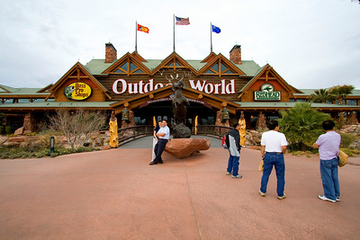 The Bass Pro store in Las Vegas is definitely the largest outdoor/hunting store we've ever been to!