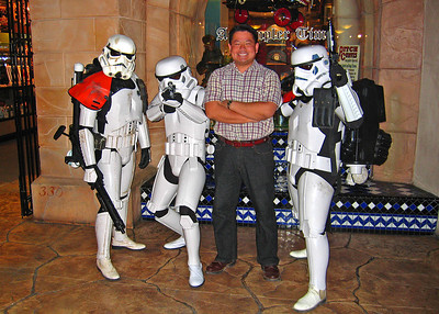 Cly ran into some storm troopers patrolling the desert passage stores on the strip.