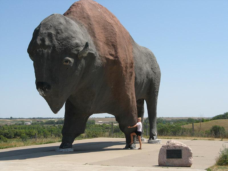 World's largest buffalo - Frontier Village North Dakota