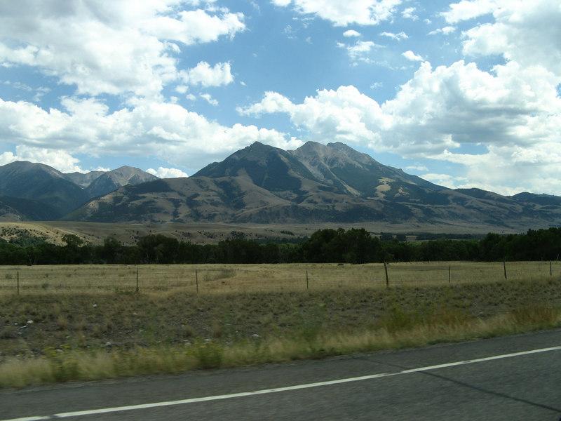 The mountainous views in Montana