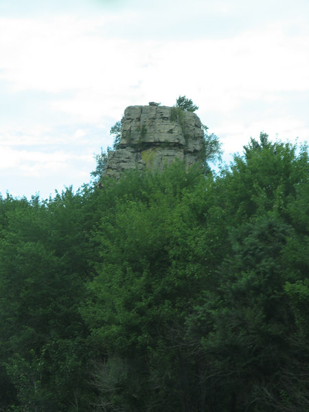 A rock outcropping in Wisconson