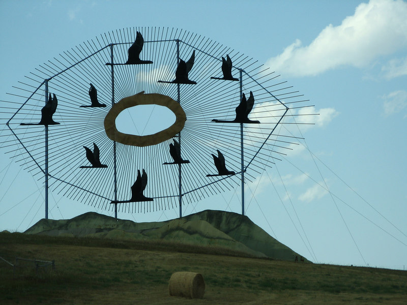 """Geese in Flight"" part of the collection of world's largest metal statues.  You guessed it - North Dakota!"
