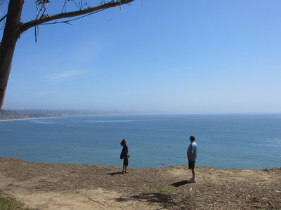 checking out the view from the cliffs over capitola