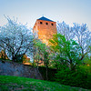 Twilight scenes of Lichtenberg Castle
