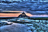 """Abbey of Mont-St-Michel during the """"Blue Hour""""<br /> <br /> ~ Image by Martin McKenzie, all rights reserved ~<br />  © copyright digitally watermarked / filigrane numérique copyright ©"""