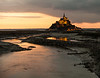 Abbey of Mont-St-Michel just after sunset<br /> <br /> ~ Image by Martin McKenzie, all rights reserved ~<br />  © copyright digitally watermarked / filigrane numérique copyright ©