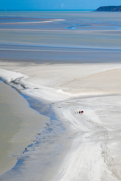 An class studying the estuary outside of Mont Saint-Michel   ~ Image by Martin McKenzie All Rights Reserved ~