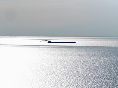 Freighter on Lake Michigan
