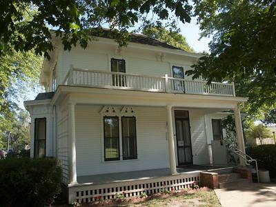 Ike's boyhood home, Abeline, Ks. Copyright 2010 Neil Stahl