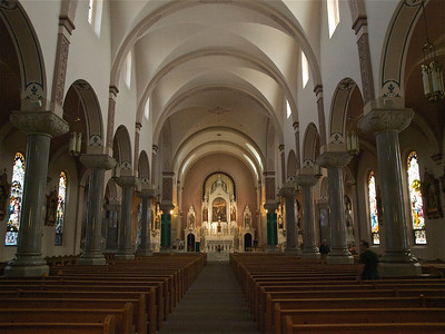"""St. Fidelis Ch., """"Cathedral of the Plains"""", Victoria, Ks. Copyright 2010 Neil Stahl"""