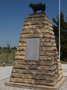 Memorial to first Angus in Kansas, and the Englishman who brought them. Copyright 2010 Neil Stahl
