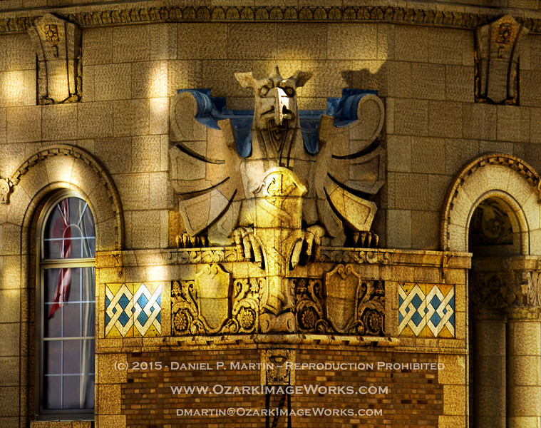 """Gargoyle - Plummer Building, Mayo Clinic Campus, Rochester MN<br /> <br /> NW corner of the Plummer Building - """"spotlighting"""" courtesy of afternoon sunshine reflected from the adjacent Siebens Building."""