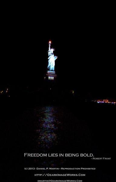 Statue of Liberty from NY Harbor - November, 2011