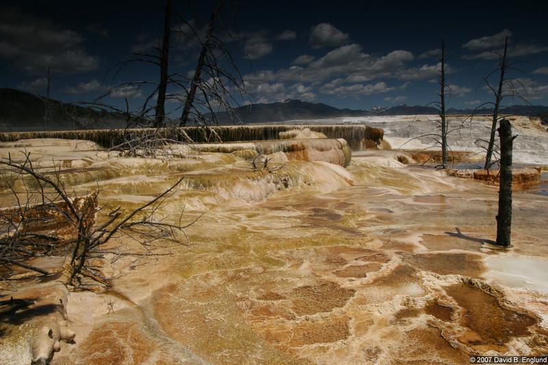 Canary Spring travertine deposits
