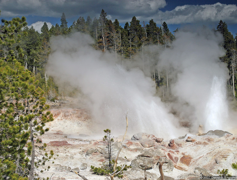 Steamboat Geyser, the worlds tallest active geyser, will send water as high as 380 feet. Unfortunately, Steamboat also has a very inconsistent schedule, eruptions occurring between four days to 50 years! Will you be the lucky visitor?