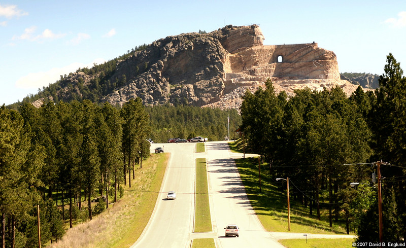 """<a href=""http://www.crazyhorse.org/visiting.shtml"">Crazy Horse Memorial</a>, home of the world's largest mountain sculpture in progress, is in the Black Hills of South Dakota on U.S. Highway 16/385 just 17 miles southwest of Mount Rushmore."""