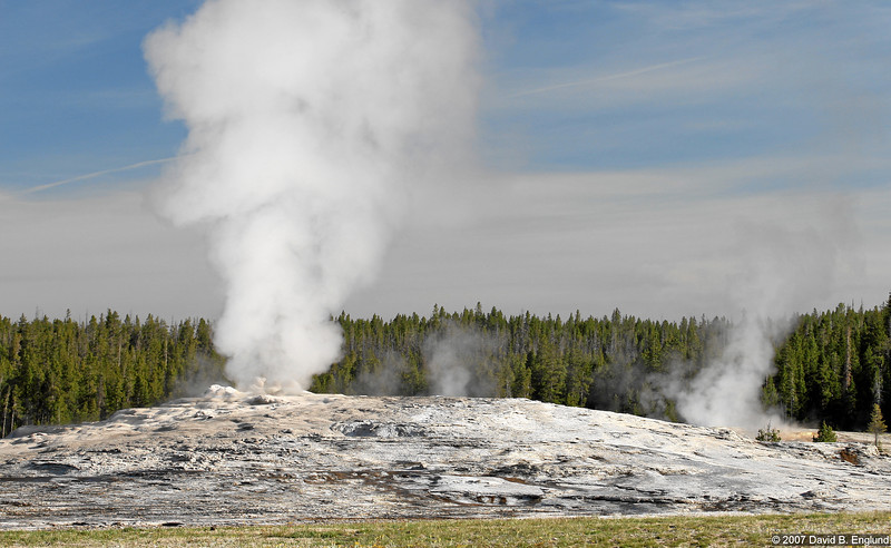 Old Faithful (not currently active), located in the Upper Geyser Basin.