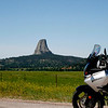 Approaching Devils Tower National Monument from the east, the towering rock is deceptive in its size.
